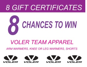 Raffle prizes from Voler