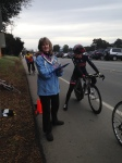 Super-volunteer Debbie Merritt at the start line